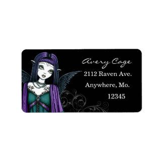 """Etiquetas góticas del ángel de """"Avery"""" Etiquetas De Dirección"""