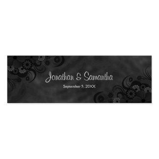 Etiquetas góticas florales del favor del boda de tarjetas de visita mini