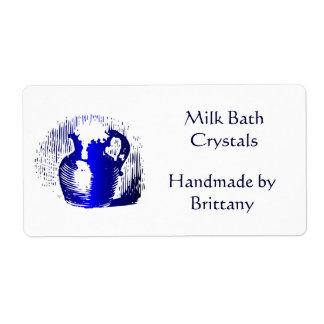 Etiquetas grandes de leche del jarro del arte de etiquetas de envío