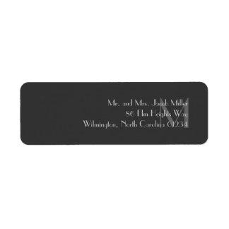 Etiquetas grises modernas del remite del monograma etiquetas de remite