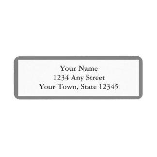 Etiquetas grises y blancas del remite del sobre etiqueta de remitente