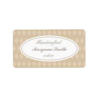 Etiquetas Handcrafted personalizado elegante Etiqueta De Dirección