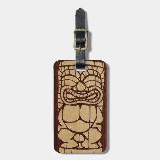 Etiquetas hawaianas de madera del equipaje de Koa  Etiquetas Maleta