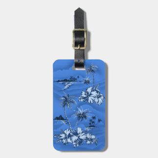 Etiquetas hawaianas del equipaje de la playa de etiquetas bolsa