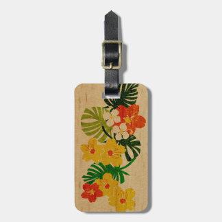 Etiquetas hawaianas del equipaje de la tabla etiquetas de maletas