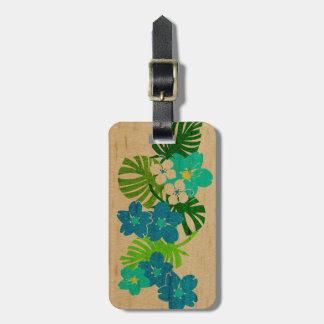 Etiquetas hawaianas del equipaje de la tabla etiquetas maletas