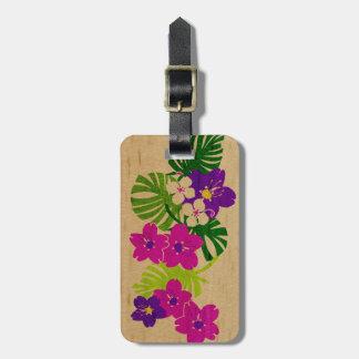 Etiquetas hawaianas del equipaje de la tabla hawai etiquetas para equipaje