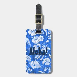 Etiquetas hawaianas del equipaje del batik de la etiquetas de maletas