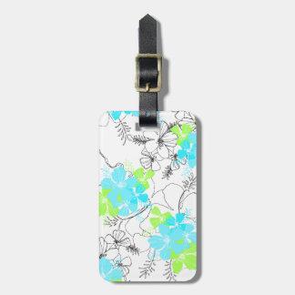 Etiquetas hawaianas del equipaje del hibisco del etiquetas bolsas