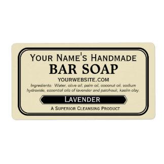 Etiquetas hechas a mano pasadas de moda del jabón etiqueta de envío