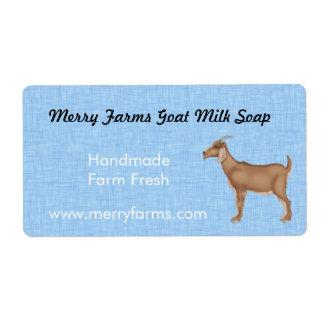 Etiquetas hechas en casa del jabón de la leche de  etiquetas de envío