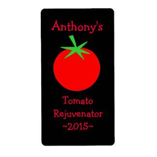 Etiquetas hechas en casa del vino del tomate etiqueta de envío
