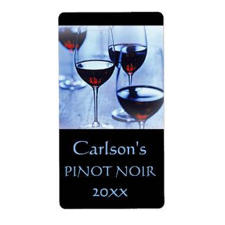 Etiquetas hechas en casa del vino verticales etiquetas de envío