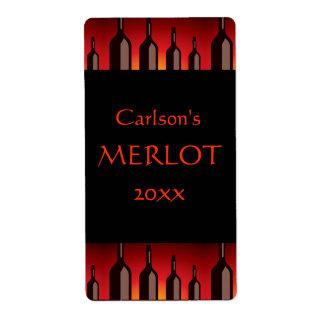 Etiquetas hechas en casa del vino verticales etiqueta de envío