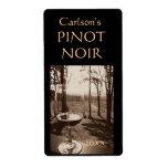 Etiquetas hechas en casa del vino (verticales) etiqueta de envío