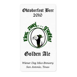 Etiquetas hechas hogar de la cerveza de Oktoberfes Etiquetas De Envío