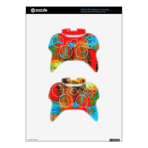 Etiquetas inalámbricas del regulador de Psychadeli Mando Xbox 360 Calcomanía