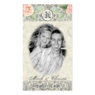 Etiquetas inglesas del regalo del favor de la boda plantilla de tarjeta de negocio