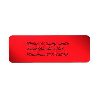 Etiquetas intrépidas negras rojas adaptables del etiqueta de remite