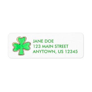 Etiquetas irlandesas verdes de la galleta del etiquetas de remite