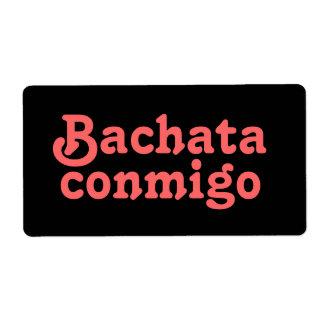 Etiquetas latinas del personalizado del baile de etiquetas de envío