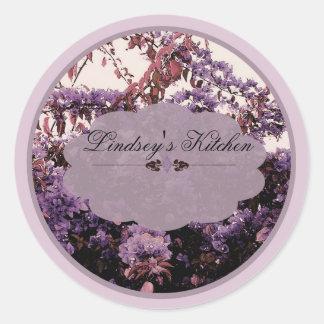 etiquetas lavendar de las azaleas pegatina redonda
