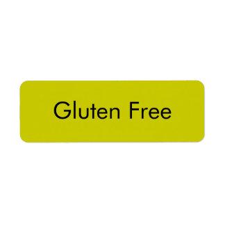 Etiquetas LIBRES de la panadería del GLUTEN adapta Etiqueta De Remite