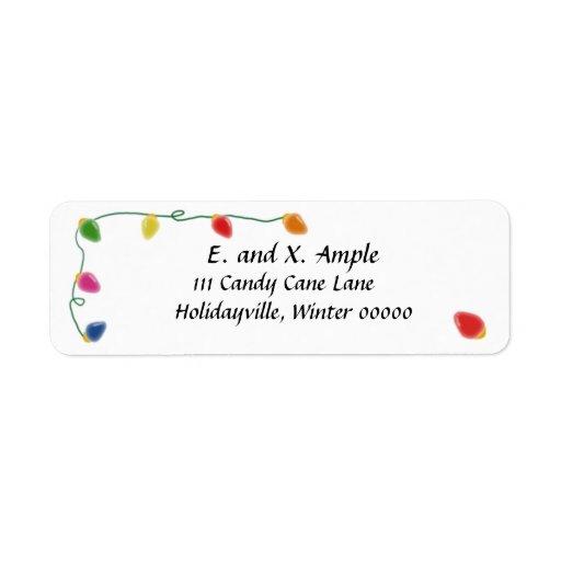 Etiquetas ligeras del remite del árbol de navidad etiqueta de remite