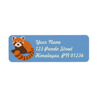 Etiquetas lindas de Adddress de la panda roja Etiqueta De Remitente