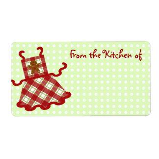Etiquetas lindas de la cocina del navidad etiqueta de envío