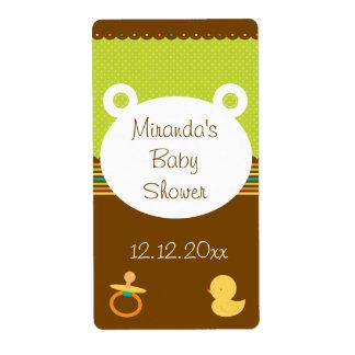 Etiquetas lindas de la fiesta de bienvenida al beb etiqueta de envío