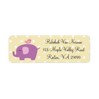 Etiquetas lindas del dot address de la polca del p etiqueta de remite