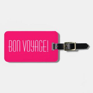 ¡Etiquetas lindas del equipaje con el buen viaje Etiqueta De Maleta