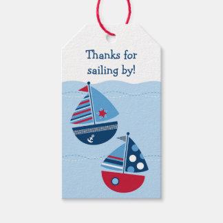 Etiquetas lindas del favor de fiesta del velero etiquetas para regalos