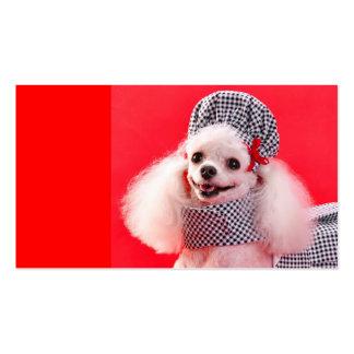 Etiquetas lindas del regalo de CouturePoodle, seña Plantilla De Tarjeta Personal