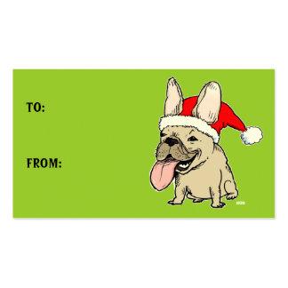 Etiquetas lindas del regalo de vacaciones del dogo tarjetas de visita