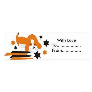 Etiquetas lindas del regalo del perrito tarjetas de visita mini