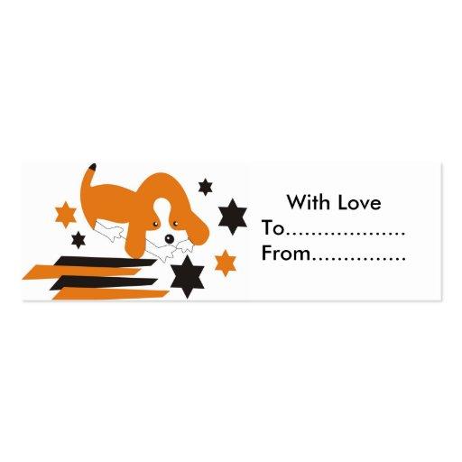 Etiquetas lindas del regalo del perrito tarjeta de negocio