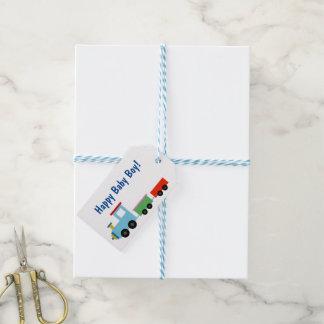 Etiquetas lindas del regalo del tren del juguete etiquetas para regalos