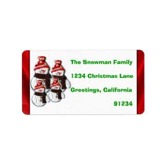 Etiquetas lindas del remite de la familia de cuatr etiquetas de dirección