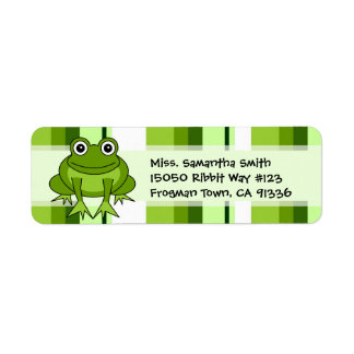 Etiquetas lindas del remite de la raya del verde etiqueta de remitente