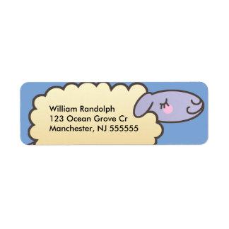 Etiquetas lindas del remite de las ovejas de los etiqueta de remite