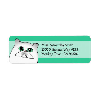 Etiquetas lindas del remite del gato persa de Chin Etiquetas De Remite