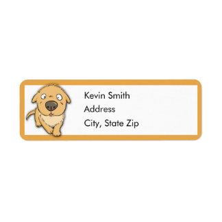 Etiquetas lindas del remite del perro etiquetas de remite
