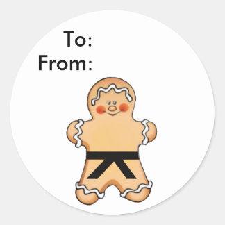 Etiquetas marciales del regalo del artista del pan