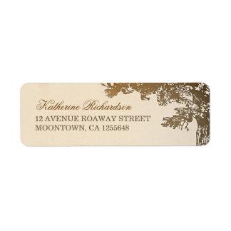 etiquetas marrones del remite del árbol etiquetas de remite