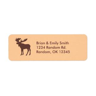 Etiquetas marrones simples del remite de los alces etiqueta de remite