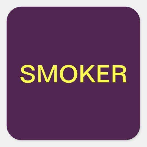 Etiquetas médicas de la carta del fumador pegatina cuadrada