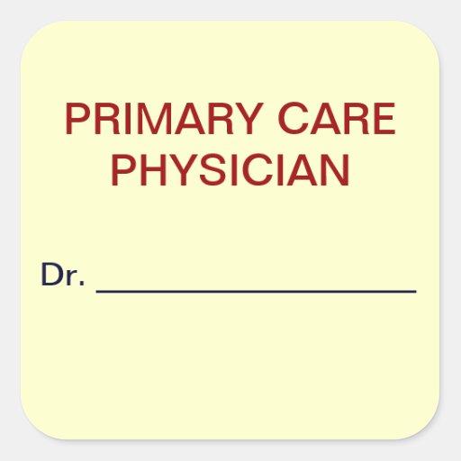 Etiquetas médicas de la carta del médico de la calcomanía cuadradas personalizadas