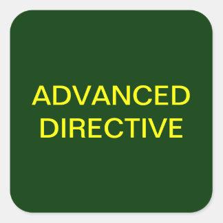 Etiquetas médicas directivas avanzadas de la carta pegatina cuadrada